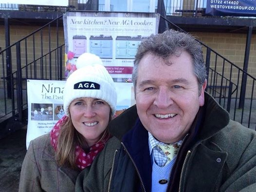 Nina Squires and the AGA man