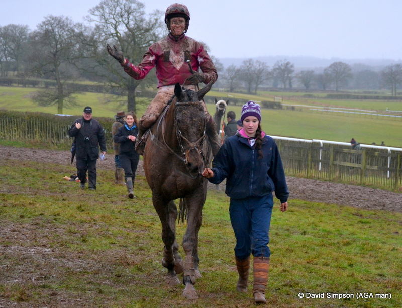 James Ridley is beaming after winning the AGA sponsored Open Maiden on War Path