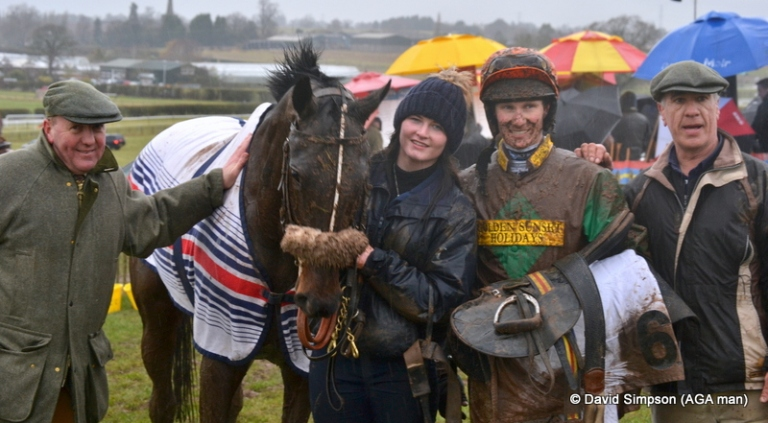 Mud and smiles after Executive Benefit won the Bonhams Mens Open