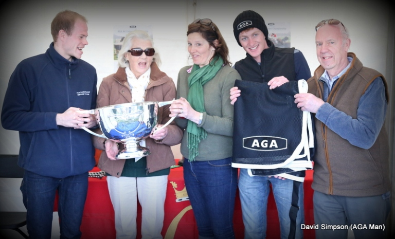 Lots of AGA goodies and a pretty impressive trophy as well!