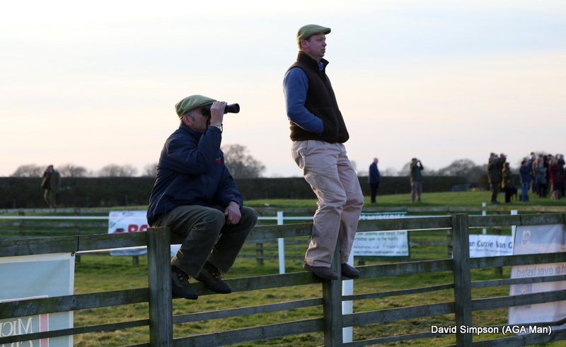 Charlie Wadland and Fred Hutsby watch the Restricted
