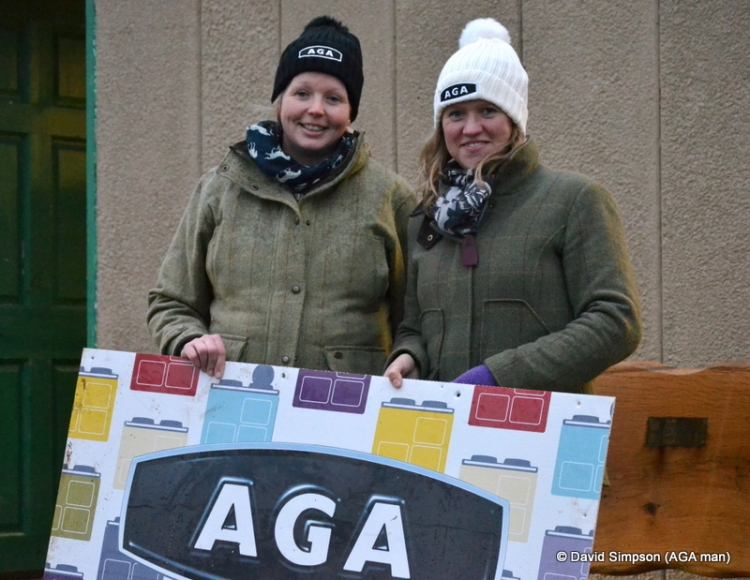 As far as I know these two are still stood here holding my AGA sign...