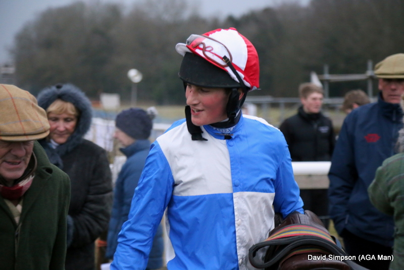 Zac Baker was in good spirits after bagging his first ever win over hurdles the previous day at Uttoxeter