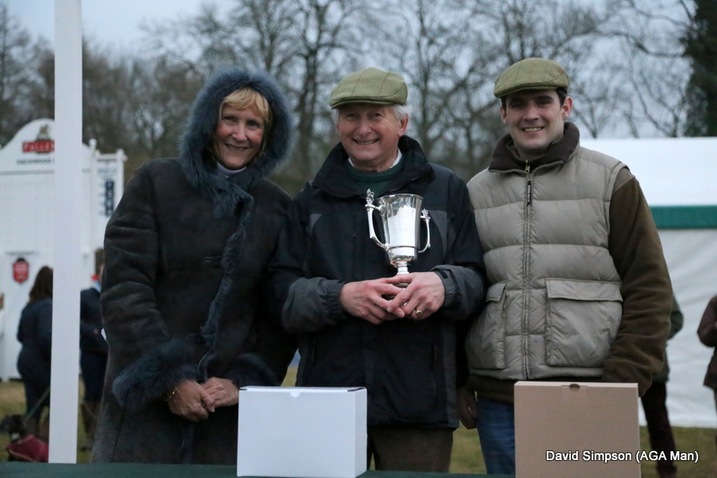 The last winner of the day was Conna Cloud and it was almost dark as James Tudor and Mr Cobbold received their mementoes