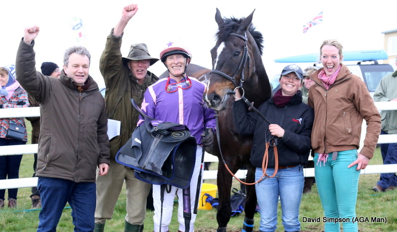 There were joyous scenes in the winners enclosure after 55 year old James McNeile won the opener on Quinshan Leader