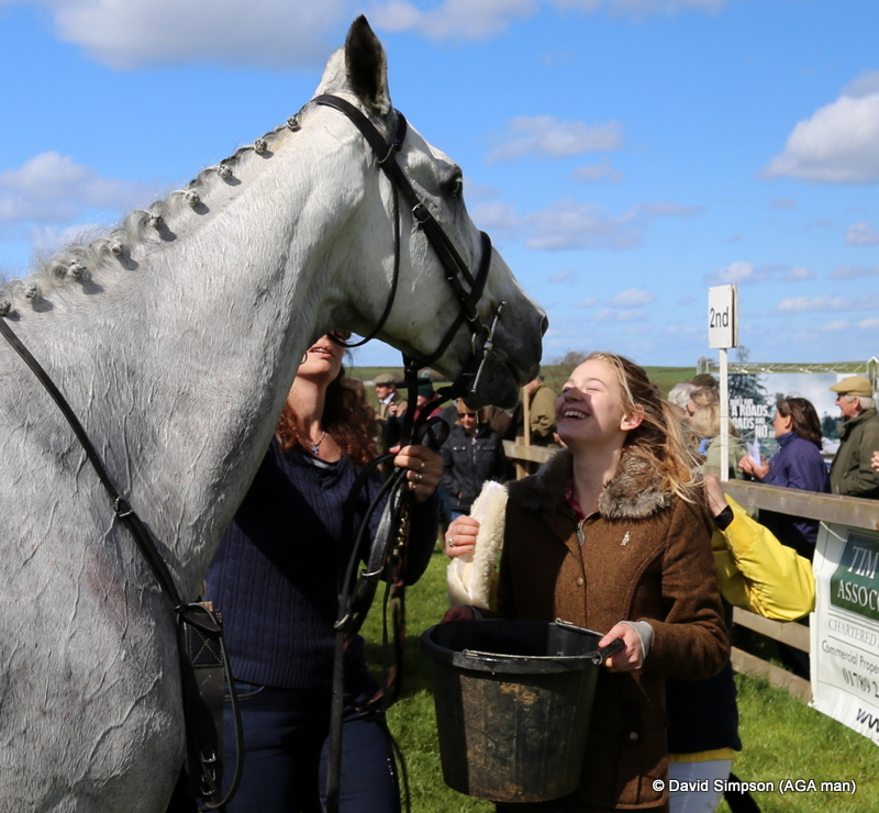 Gracie Nailor gives Argentato a kiss after his third in the Club Members