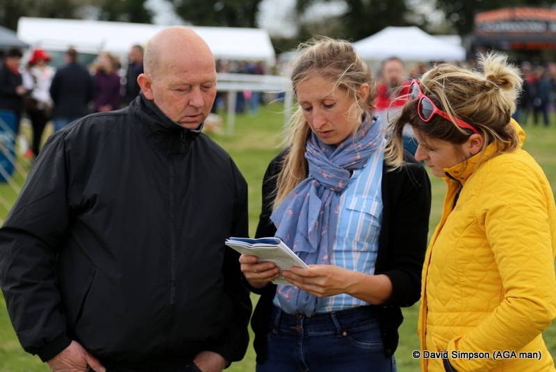 Bob, Sally and Alex study the form for the Intermediate