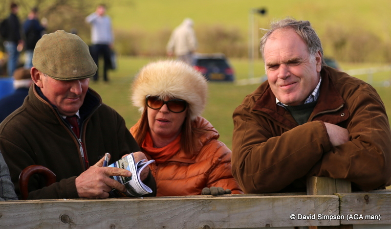 Mr Ellis (right) looks like he has mischief on his mind! Jenny Pidgeon will definitely have mischief on her mind if she spots my camera!