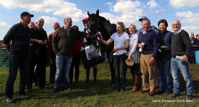 The Equus Club get ready to celebrate after Stonefield won the Restricted