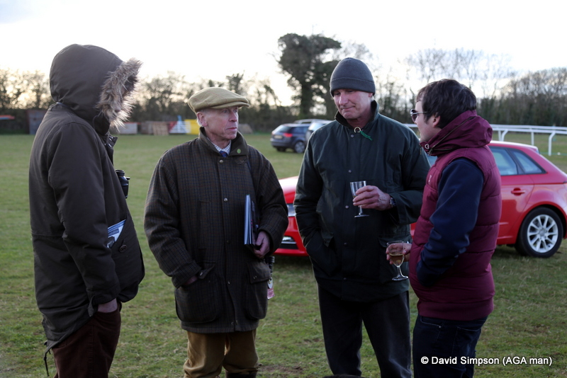 A drink in the lorry park while mulling over the days events