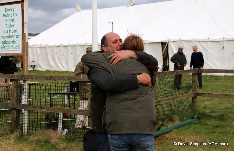 Amanda Maller and Gary Meredith celebrate a great win in the Open Maiden, it's been a long time coming!