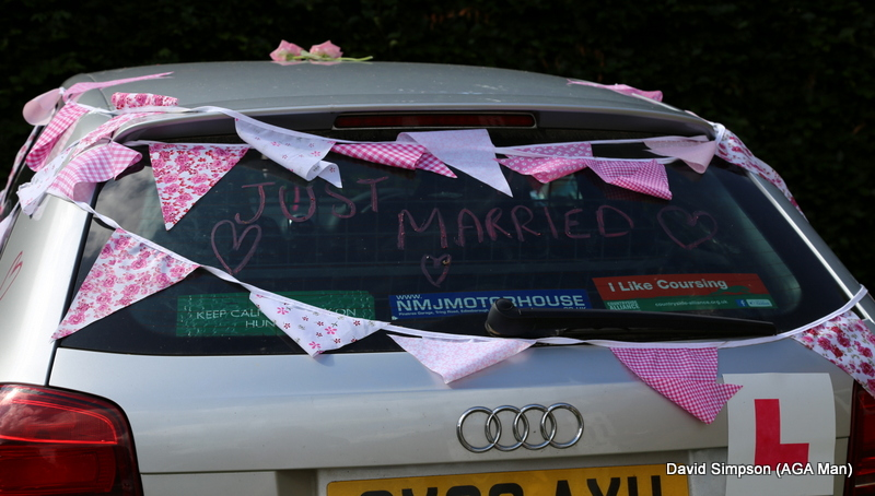 Car suitably decorated for the journey back to Warwickshire!