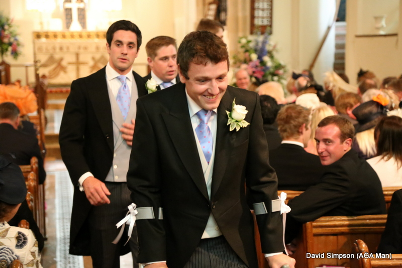 This was taken just before the beautiful bride arrived, although I did think he was trying to scarper!