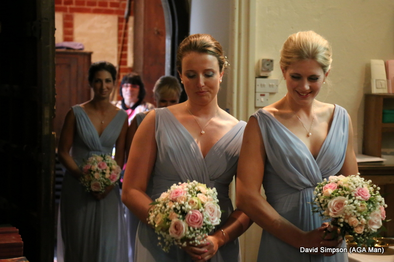 Blushing bridesmaids!