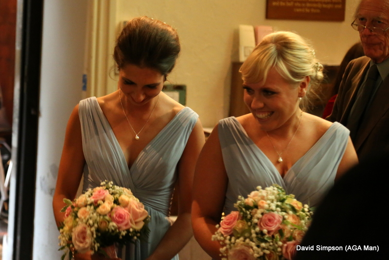 More blushing bridesmaids!