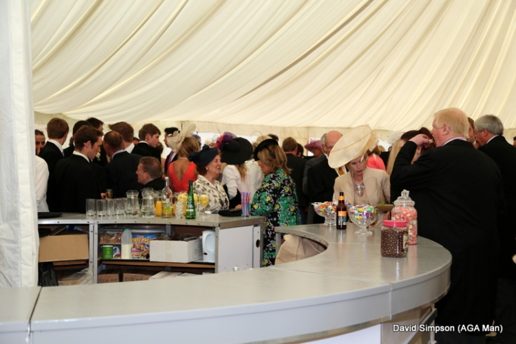 The bar was busy as everyone rushed to get stuck into Big Tone's booze!