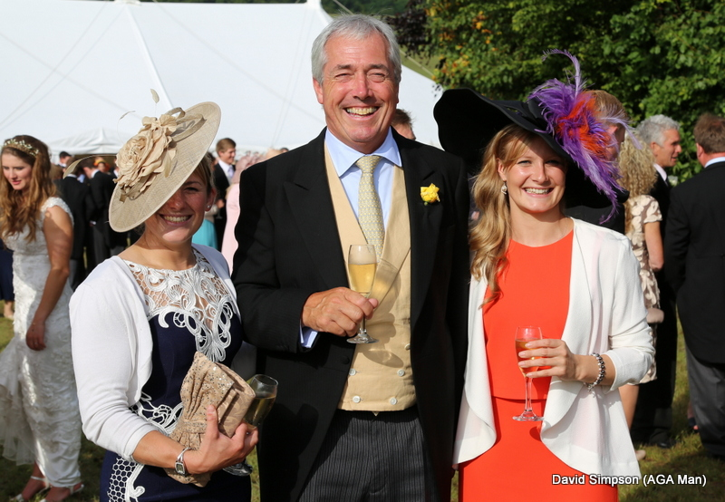 Mr Cox is flanked by Hannah Watson (left) and Joanna Mason.