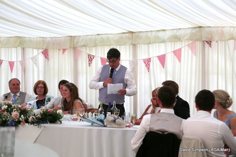 Father of the bride, Simon Andrews, kicks of with a very funny speech.