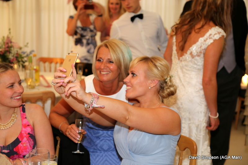 Wedding selfie for Pips and Laura!