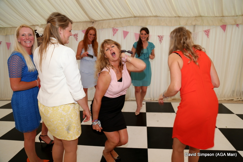 Lawney provides some early entertainment on the dance floor!