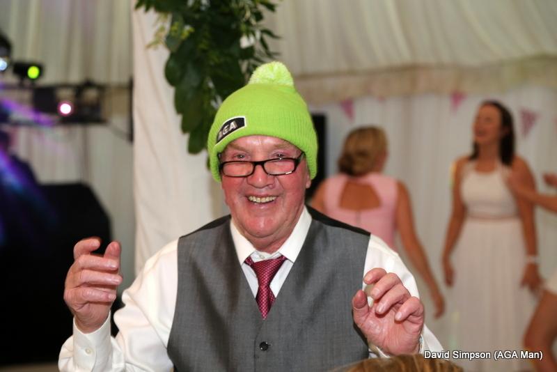 AGA hats at a wedding, whatever next!
