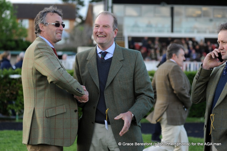 Nick Champion (left) congratulates Richard Davies-Cooke