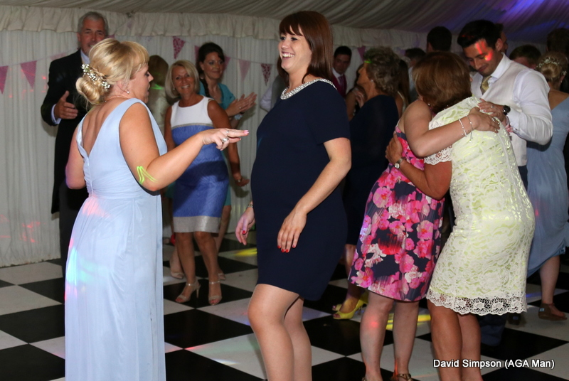 Laura and Olivia chose the other end of the dance floor - there was less arm waving and pointing!