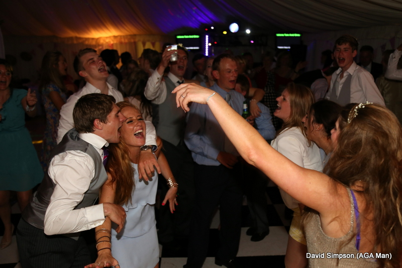 The bride has ditched the wedding dress for something more 'dance friendly'!