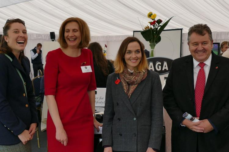 L-R Steph Holmes, Clare Hazel, Victoria Pendleton, David Simpson - thanks to Matt Hazel for the photo!