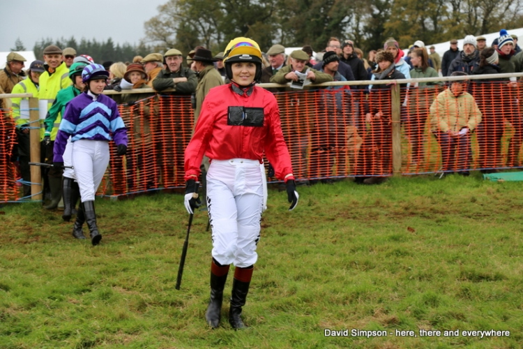 My first sight of Victoria Pendleton on a point-to-point racecourse